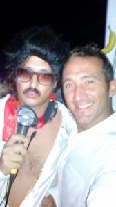Me as Elvis with a friend @ EL Sabatone