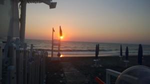 """Sunrise at my party """"El Sabatone"""" @ lido Buena Ventura - San Foca (LE)"""