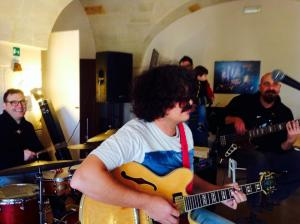 ME and the 54songs band playing @ Masseria Ospitale