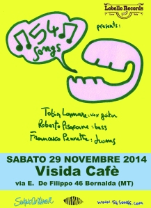 54 songs live BERNALDA 29 NOV