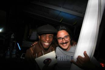 Spinning 45s with Perry Louis last year at EL Sabatone